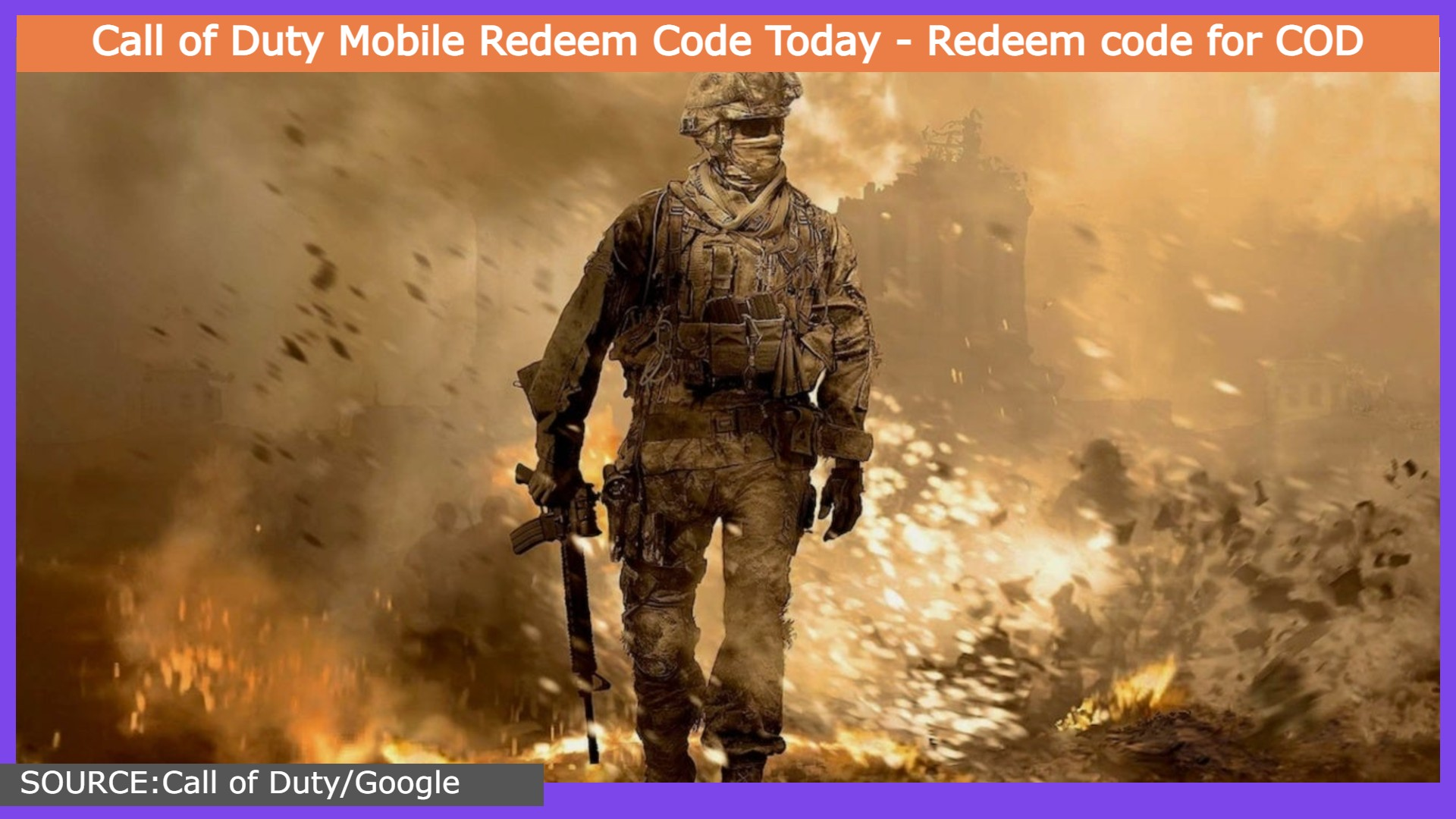 Call of Duty Mobile Redeem Code Today