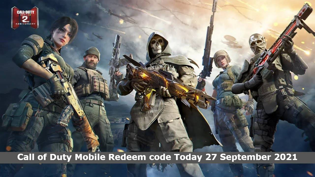 Call of Duty Mobile Redeem code Today 27 September 2021