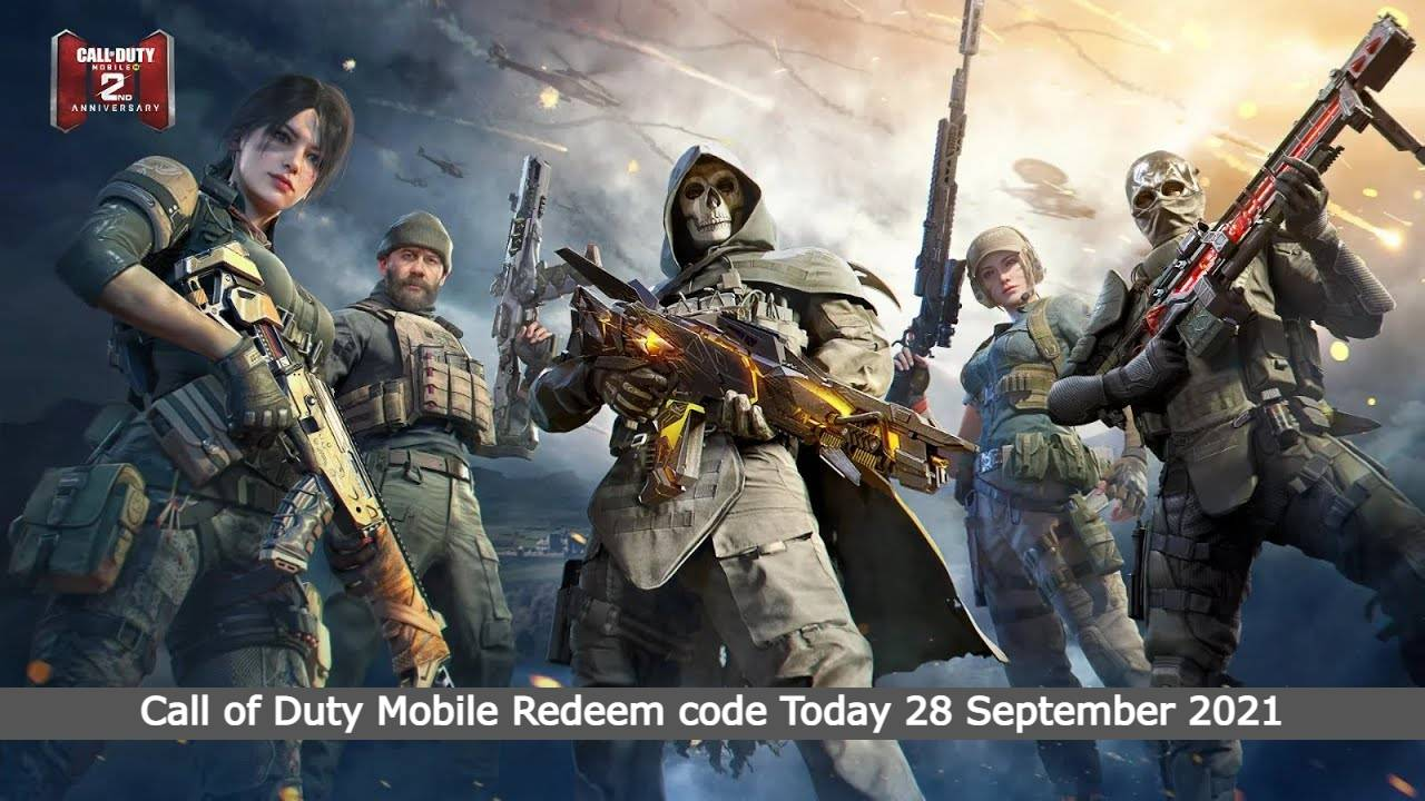 Call of Duty Mobile Redeem code Today 28 September 2021