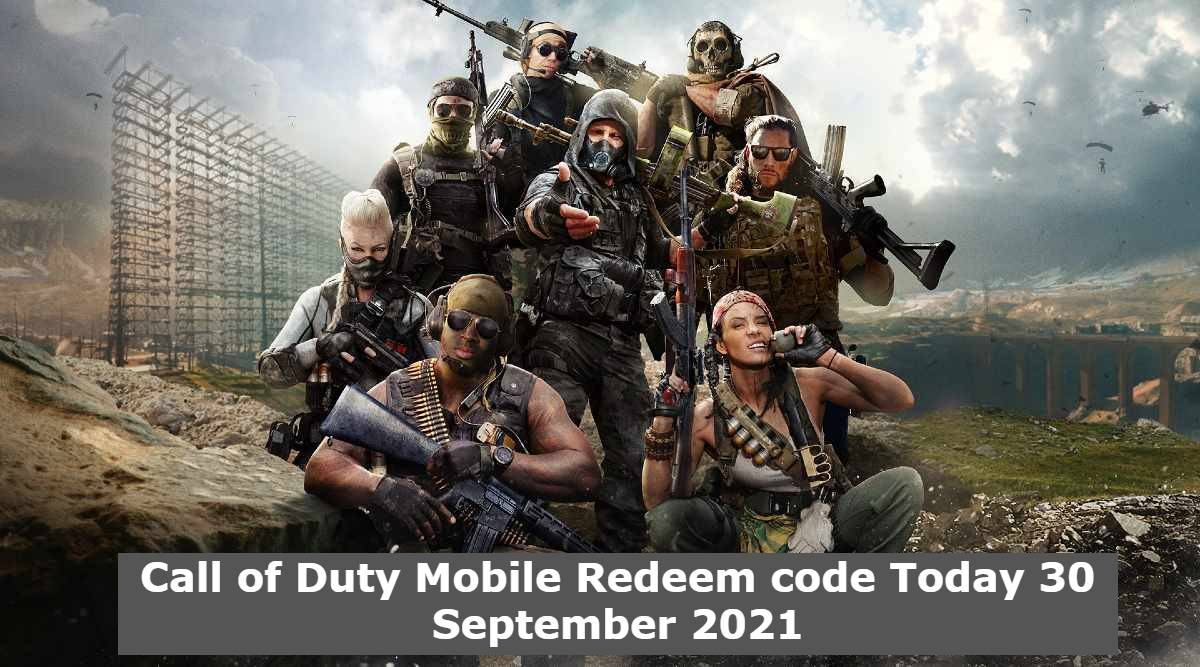 Call of Duty Mobile Redeem code Today 30 September 2021
