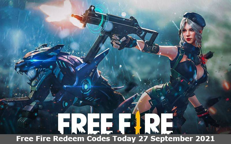 Free Fire Redeem Codes Today 27 September 2021