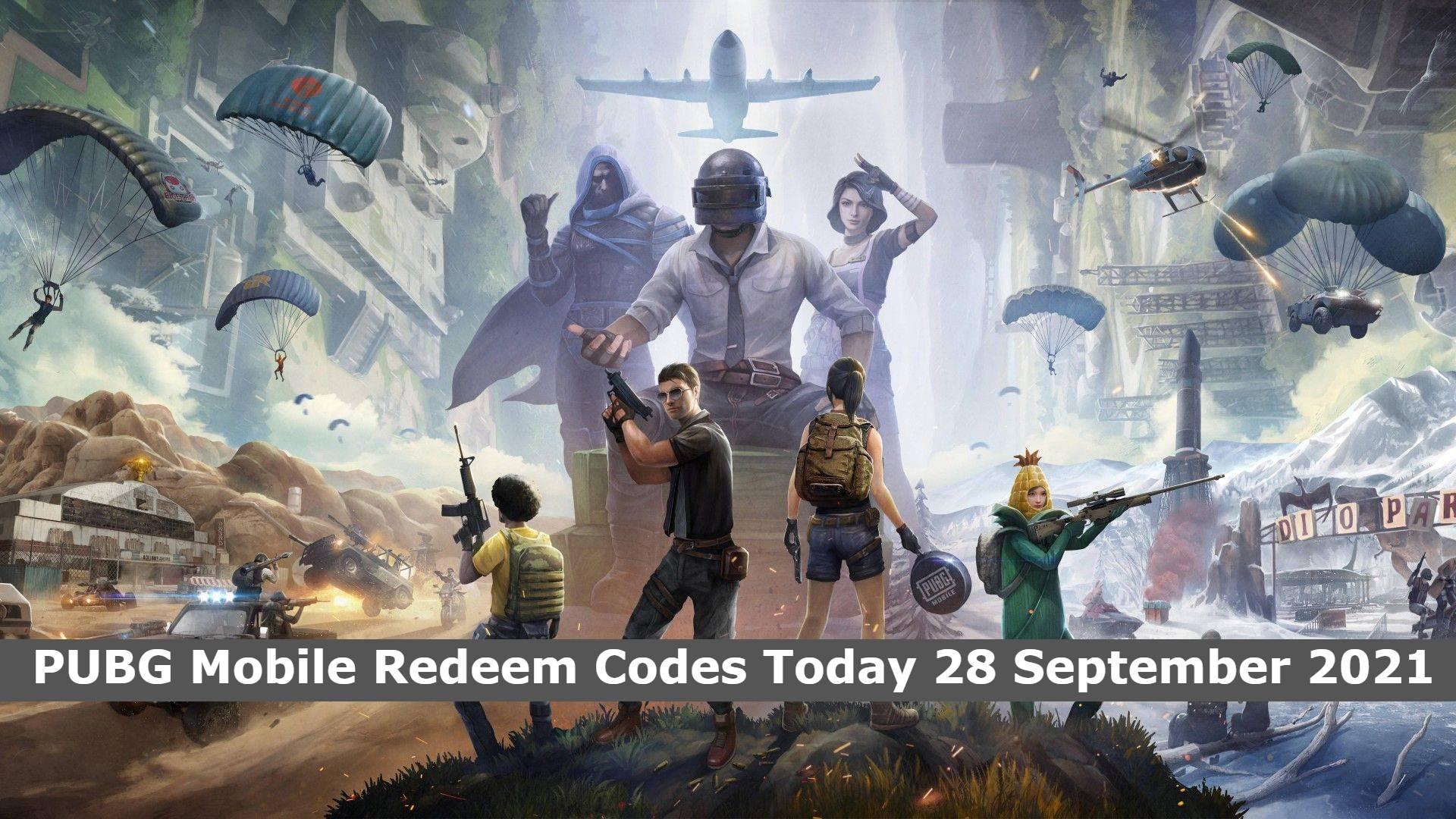 PUBG Mobile Redeem Codes Today 28 September 2021