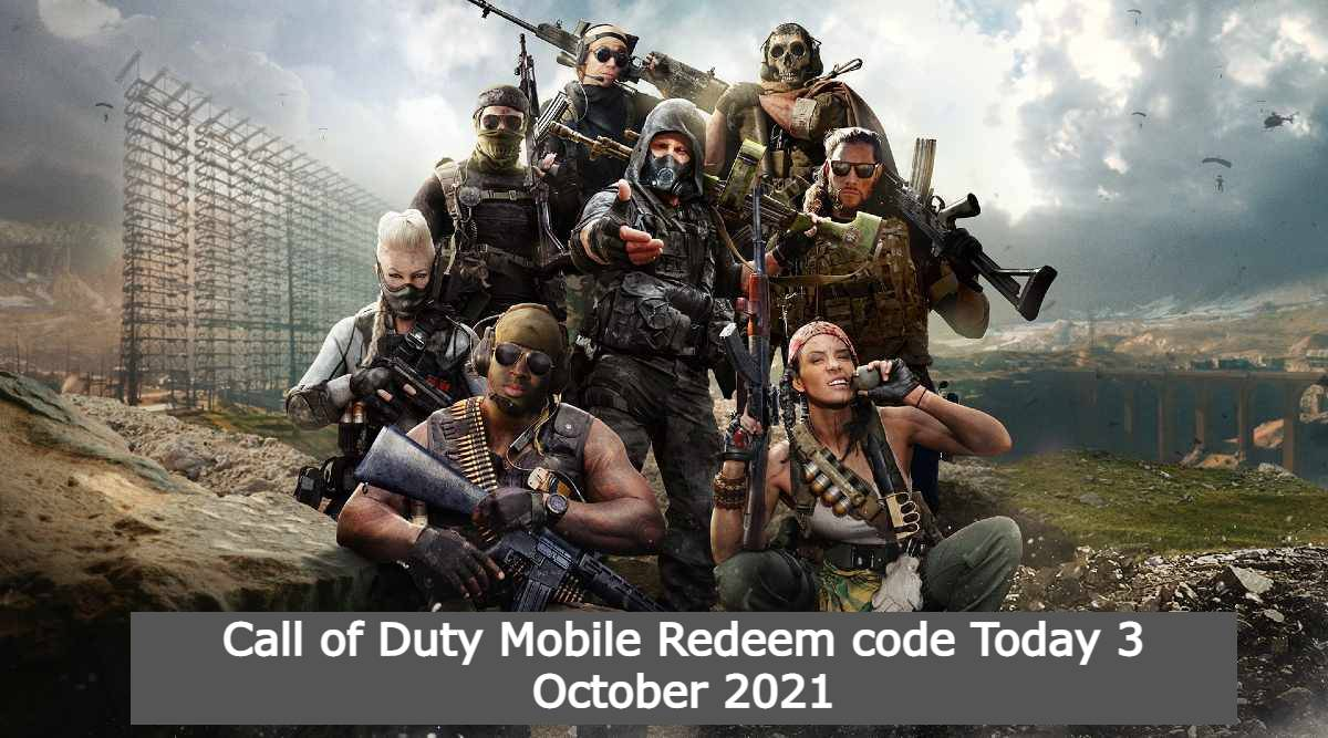 Call of Duty Mobile Redeem code Today 3 October 2021