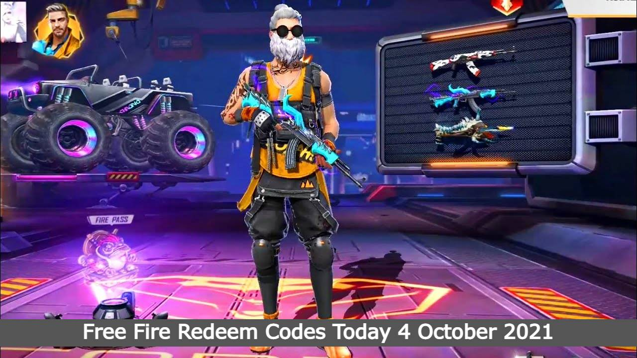 Free Fire Redeem Codes Today 4 October 2021