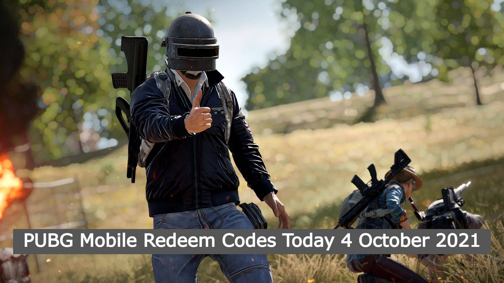 PUBG Mobile Redeem Codes Today 4 October 2021